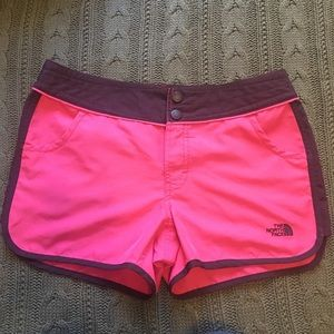 The North Face pink running shorts size 10